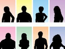 People avatars Royalty Free Stock Image