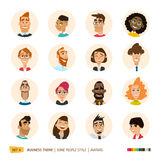 People avatars collection Stock Photography