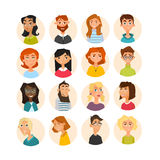 People avatars  collection Stock Images