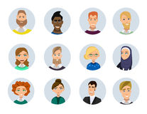 People avatars collection Royalty Free Stock Photo
