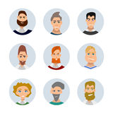 People avatars collection Royalty Free Stock Photography