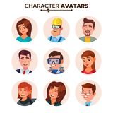 People Avatars Collection Vector. Default Characters Avatar. Cartoon Web Isolated Illustration Stock Images