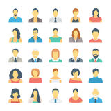 People Avatars Colored Vector Icons 1 Stock Image