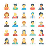 People Avatars Colored Vector Icons 3 Stock Photos