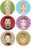 People avatars Royalty Free Stock Photos