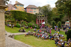 People awaiting performance. Festival No.6. 2014 Royalty Free Stock Photography