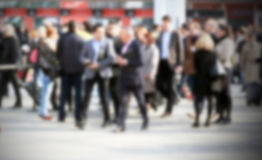 People background, intentionally blurred post production Royalty Free Stock Photo