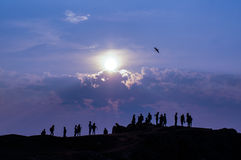 People at the Baikal shore Stock Image