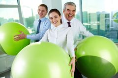 People with balls Stock Images