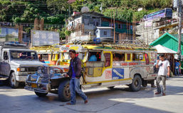 People at Banaue bus station in Ifugao, Philippines Royalty Free Stock Images