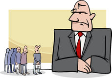 People at bank cartoon illustration Royalty Free Stock Photography