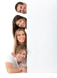 People with a banner Stock Photos