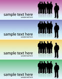 People banner vector illustration