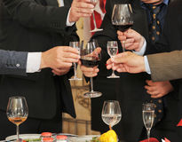People on a banquet drink alcohol. Royalty Free Stock Images