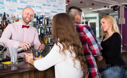 People in a bar Royalty Free Stock Photo