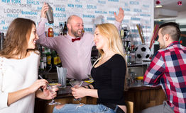 People at the bar Royalty Free Stock Image