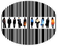 People and barcode. Illustration of barcode and people Royalty Free Stock Image