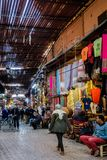 Marrakech Souk Shops, Morocco stock image