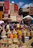 Shopping in the Souk, Marrakech Morocco stock photography