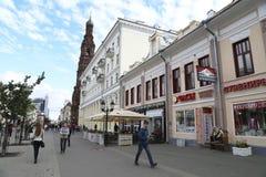 People in a Bauman walking street in Kazan, Russia Stock Image