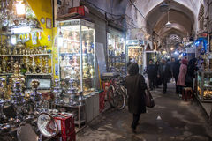 People in bazaar in Isfahan Royalty Free Stock Image
