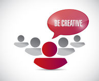 People be creative message illustration design Stock Images