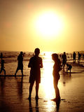 People in the Beach Stock Photo
