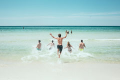 People at beach Royalty Free Stock Photography