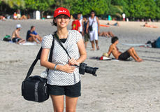 PEOPLE ON THE BEACH IN BALI Stock Photos