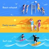 People On Beach Banner Royalty Free Stock Photos