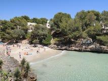 People at the beach Cala Serena, Mallorca Stock Photos