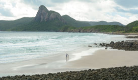 People on the beach in Con Dao island, Vietnam.  Royalty Free Stock Image