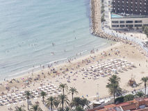 People on the beach of Costa Blanca Royalty Free Stock Photos