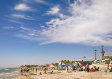 People on Beach, Del Mar California Stock Images