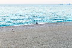 People on the beach. Different people on the beach in Istanbul Stock Photos