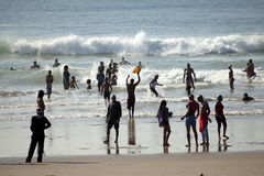People on the beach, Durban Royalty Free Stock Photo