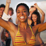 People Beach Enjoyment Fun Summer Friendship Concept Royalty Free Stock Photography