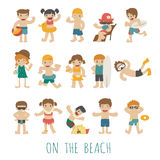 People on the beach Royalty Free Stock Image