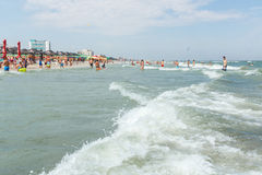 PEOPLE ON THE BEACH OF MAMAIA Stock Image
