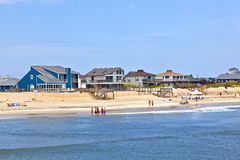 People at the beach in Nags Head at the Outer Banks Royalty Free Stock Photography