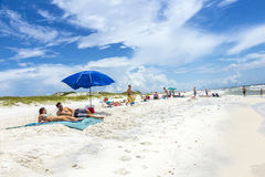 People at the beach in Niceville Stock Images