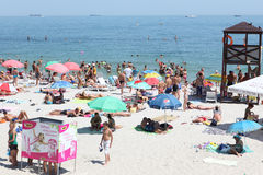 People on the beach in Odessa, Ukraine Stock Image