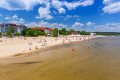People on the beach of Sopot, Poland Stock Photo
