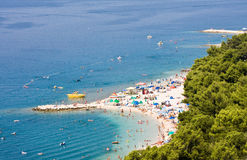 People on the beach in summer. Adriatic Stock Images