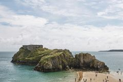 People at the beach in Tenby, Wales, UK. Stock Photography