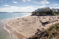 People on Beach Tenby Royalty Free Stock Photography