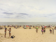 People at the Beach in Uruguay Royalty Free Stock Photo