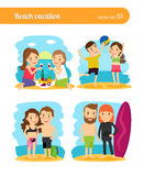 People on beach vacation Royalty Free Stock Image
