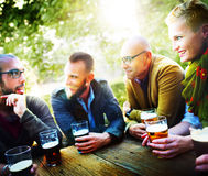People Beer Drinking Party Friendship Concept Stock Image
