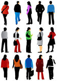 People from behind Stock Image